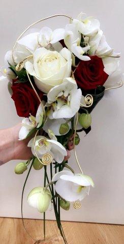 ramasser dernière sélection de 2019 large sélection bouquet de mariée chute | Alloin Fleurs